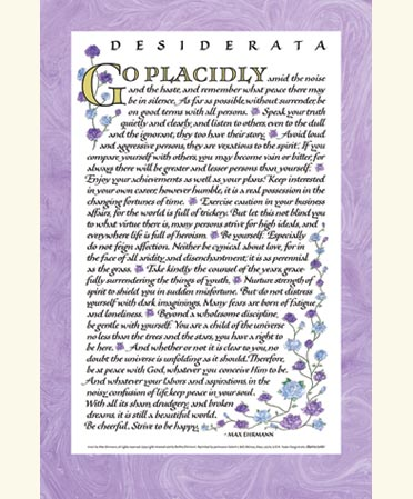 graphic relating to Desiderata Printable called Desiderata Poem - Desiderata Prints and Posters