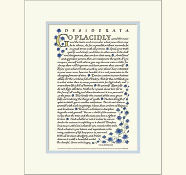 graphic about Desiderata Printable titled Desiderata Poem - Desiderata Prints and Posters