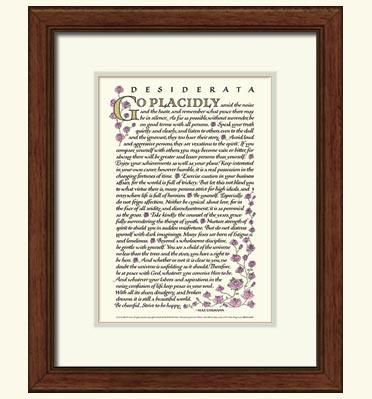 Desiderata Poem - Desiderata Prints and Posters