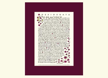photograph about The Desiderata Poem Printable identify Desiderata Poem - Desiderata Prints and Posters